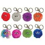 Inkology Fluffles Key Chains, Assorted, 2 x 2, 16 Pack (6046)