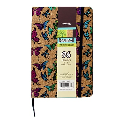 Inkology Butterfly Cork Journal, 8.3 x 5.8, 6 Pack (5636)