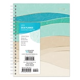 2019 Brown Trout 6 x 7.75 Weekly Desk Planner with Large Print, Seaside Manor, Ocean and Beach Art