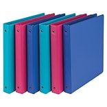 Samsill® Fashion Prints 1 3-Ring Storage Binder, Assorted, 6/Pack (MP21398)