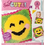 Colorbok Emoji Blush Smile Emoji Sew Cute! Latch Hook Kit (73733)