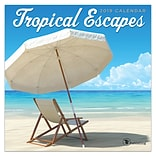 2019 TF Publishing 7 X 7 Tropical Escapes Mini Calendar (19-2110)