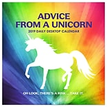 2019 TF Publishing 5.5 X 5.5 Advice From A Unicorn Daily Desk Calendar (19-3201)