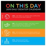 2019 TF Publishing 5.5 X 5.5 On This Day Daily Desk Calendar (19-3203)