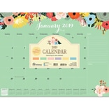 2019 TF Publishing 22 X 17 Floral Desk Pad Calendar (19-8099)