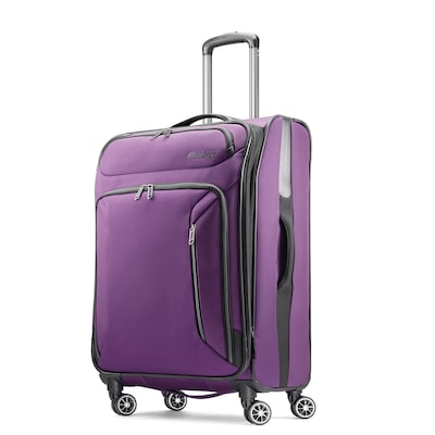"American Tourister Zoom 25"" Spinner Luggage, Purple (92410-1717)"