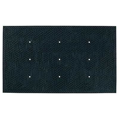 M + A Matting SuperScrape Plus Mat with Holes Black 4x6 (5559000046)