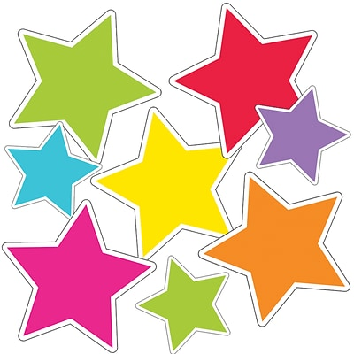 Twinkle Twinkle Youre A STAR! Color Stars Cut-Outs, 36/Pack (120547)