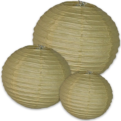 Kraft Paper Lanterns, 3/Pack (107002)