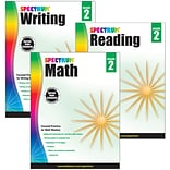 Spectrum® Grade 2  Focused Practice Set for Writing, Reading and Math, 3/Set (745040)