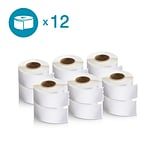 DYMO 2050768 LW Address Labels, 1 1/8-Inch x 3 1/2-Inch, Self-Adhesive, White, 12 Rolls of 350