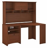 Bush Furniture Buena Vista Corner Desk with Hutch, Serene Cherry (BUV008SC)