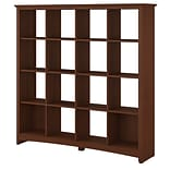 Bush Furniture Buena Vista 16 Cube Bookcase, Serene Cherry (MY13603-03)