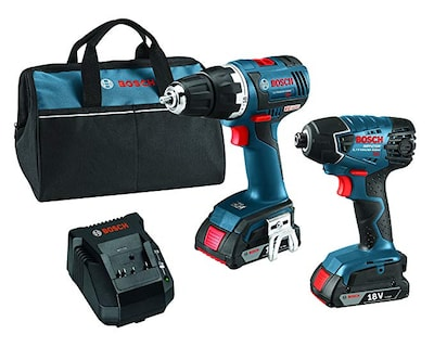 "Brushless 1/4"" & 1/2"" Socket Ready Impact Driver & Brushless Compact Tough 1/2"" Drill/Driver 18 Volt Cordless Combo Kit"