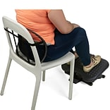 Mind Reader Mesh Lumbar Support Cushion and Height Adjustable Ergonomic Non-Slip Foot Rest Combo, Bl