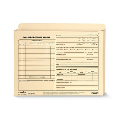 ComplyRight Employee Records Jacket, Expandable, Letter Size