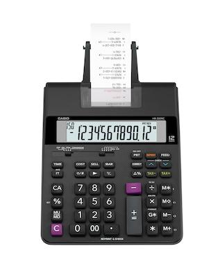 Casio 12 Digit Compact Printing Calculator, Black (HR 200RC)