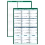 AT-A-GLANCE® Vertical Erasable Wall Calendar, 12 Months, Reversible for Notes and Planning Space, 48
