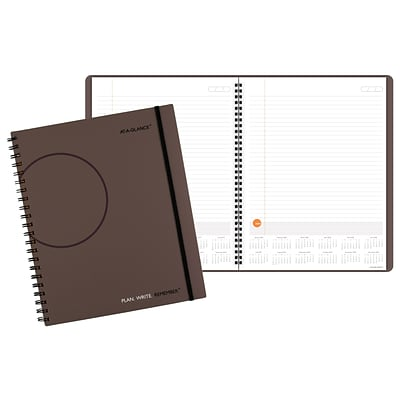 AT-A-GLANCE® Plan.Write.Remember.® Planning Notebook with Reference Calendars, Undated, 8-9/16 x 11, Black (70-6209-30-19)