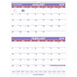 AT-A-GLANCE® Two Month Wall Calendar, 12 Months, January Start, 22 x 29, White (PM9-28-19)