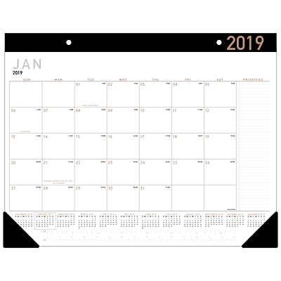 AT-A-GLANCE® Contemporary Monthly Desk Pad, 12 Months, January Start, 21 3/4 x 17 (SK24X-00-19)