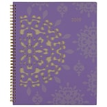Cambridge® Vienna Weekly/Monthly Planner, 12 Months, January Start, 8 1/2 x 11, Purple (122-905-19
