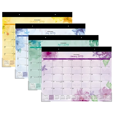 AT-A-GLANCE® Beautiful Day Desk Pad Calendar, 12 Months, January Start, 21 3/4 x 17 (SK38-704-19)