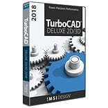 IMSI TurboCAD TurboCAD Deluxe 2018 for 1 User, Windows, Download (00TCD525XX)