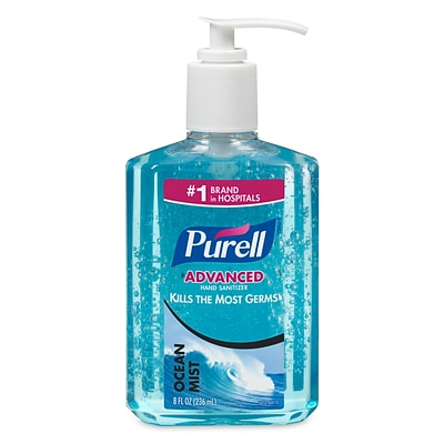 PURELL® Hand Sanitizer Ocean Mist Gel, Fresh Clean Fragrance, 8 oz, Each (3012-12)