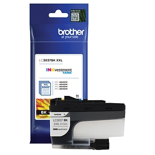 Brother Genuine Black INKvestment Tank Ink Cartridge, Super High-Yield, (LC3037BK)