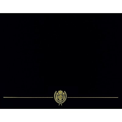 Great Papers! Certificate Covers, 12 x 9.375, Black Classic Crest with Gold Foil, 25/Pack (903117PK10)