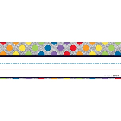 Carson-Dellosa Sparkle and Shine Rainbow Dots on Glitter Nameplates 36/Pack (122138)