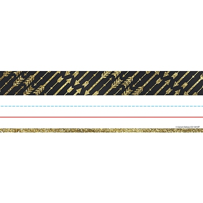 Carson-Dellosa Sparkle and Shine Gold Glitter Arrows Nameplates 36/Pack (122137)