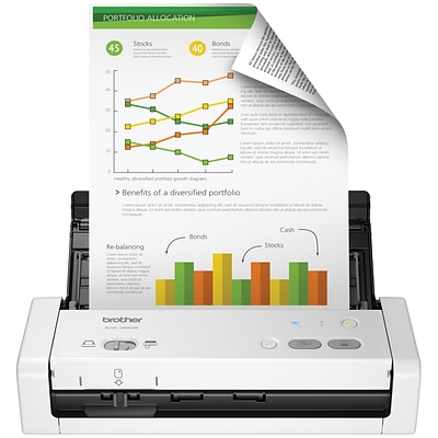 Brother Desktop Scanner for Documents, Wireless, White (ADS-1250W)
