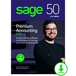 Sage 50 Premium Accounting 2019 U.S. for 2-User, Windows, Download (PPA22019ESDCSRT)