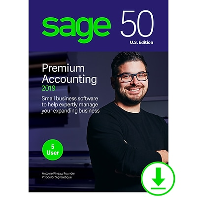 Sage 50 Premium Accounting 2019 U.S. for 5-User, Windows, Download (PPA52019ESDCSRT)