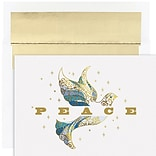 JAM Paper® Christmas Cards Set, Elegant Dove, 16/Pack (526917900)