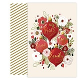 JAM Paper® Christmas Cards Set, Ornament Bouquet, 18/Pack (24364964)