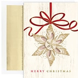 JAM Paper® Christmas Cards Set, Shell Ornament, 18/Pack (526918900)