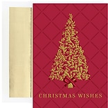 JAM Paper® Christmas Cards Set, Burgundy Tree, 16/Pack (526911500)