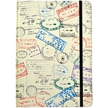 JAM Paper® Hardcover Notebook with Elastic, 5 3/4 x 8 1/4, Passport Journal, 160 Lined Sheets, Sold