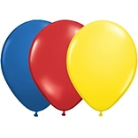 JAM Paper® Party Balloons, 12 Inch Latex Balloons, Primary Colors Assortment, 36/Pack (377834381A)