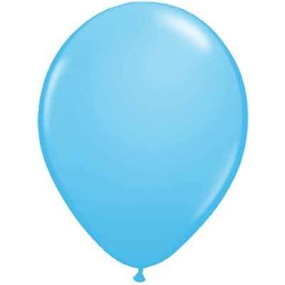 JAM Paper® Party Balloons, 12 Inch Latex Balloons, Light Blue, 36/Pack (377834372A)