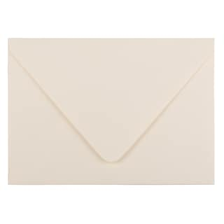 JAM Paper® A7 Invitation Envelopes with Euro Flap, 5.25 x 7.25, Ivory, 25/Pack (235034674)