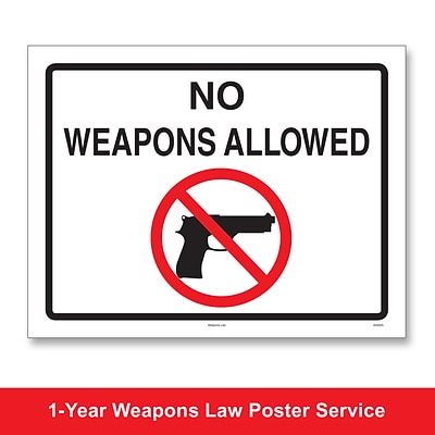 ComplyRight™ Weapons Law Poster Service, Maine (U1200CWPME)