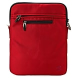 Vangoddy Shoulder Bag Carrying Case Sleeve for new iPad 9.7 inch iPad Pro 10.5 inch, Red (PT_RDYLEA4