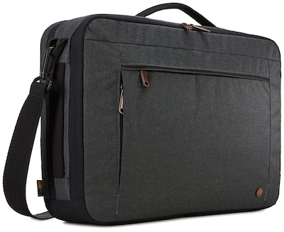 Case Logic ERA Hybrid Laptop Briefcase, Black Polyester (ERACV-116-OBSIDIAN)
