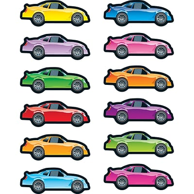 Carson-Dellosa Race Cars Shape Stickers, Pack of 72 (CD-168065)