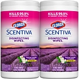 Clorox Scentiva Disinfecting Wipes, Tuscan Lavender and Jasmine - 70 Wipes (31629)