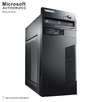 Lenovo ThinkCentre M72E Tower Refurbished Desktop Computer, Intel® Core™ i5-3570, 8GB Memory, 2TB HDD, (S18VFTLEDT02P16)